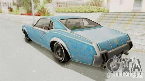 GTA 5 Declasse Sabre GT2 IVF для GTA San Andreas колёса