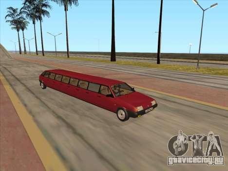 VAZ 2109 17-door для GTA San Andreas вид слева
