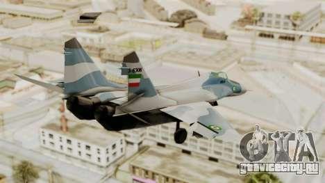 MIG-29A IRIAF для GTA San Andreas вид слева