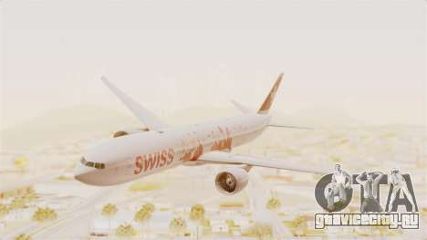 Boeing 777-300ER Faces of SWISS Livery для GTA San Andreas
