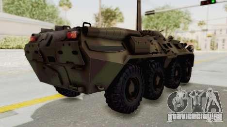 BTR-80 Desert Turkey для GTA San Andreas вид сзади слева