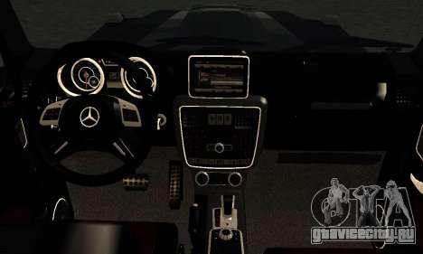 Brabus B65 для GTA San Andreas вид изнутри
