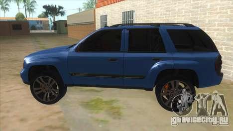 Chevrolet TrailBlazer для GTA San Andreas вид слева