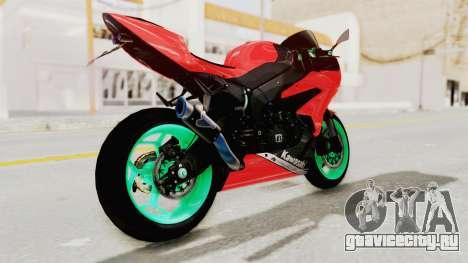 Kawasaki Ninja ZX-6R Highmodif для GTA San Andreas вид слева
