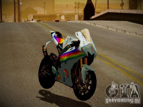 Yamaha YZR M1 2016 Rainbow Dash для GTA San Andreas вид слева