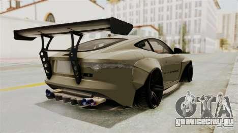 Jaguar F-Type L3D Store Edition для GTA San Andreas вид сзади слева