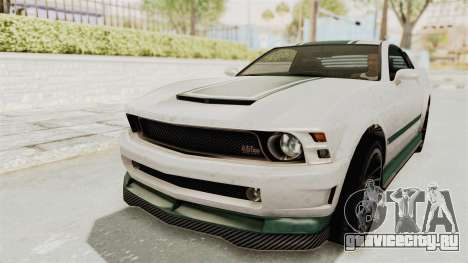 GTA 5 Vapid Dominator v2 IVF для GTA San Andreas вид сверху
