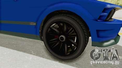 GTA 5 Vapid Dominator v2 IVF для GTA San Andreas вид сзади