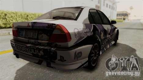 Mitsubishi Lancer Evolution VI Tenryuu Itasha для GTA San Andreas вид слева