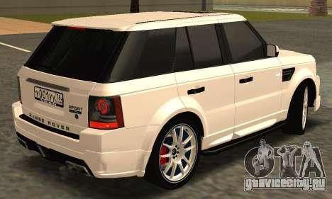 Range Rover Sport Tuning для GTA San Andreas вид изнутри