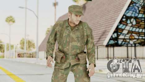 MGSV Ground Zeroes US Soldier Armed v2 для GTA San Andreas