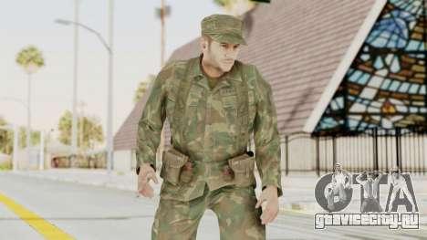 MGSV Ground Zeroes US Soldier Armed v2 для GTA San Andreas