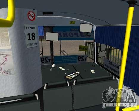 Паз 3205 Дзержинск для GTA San Andreas вид изнутри