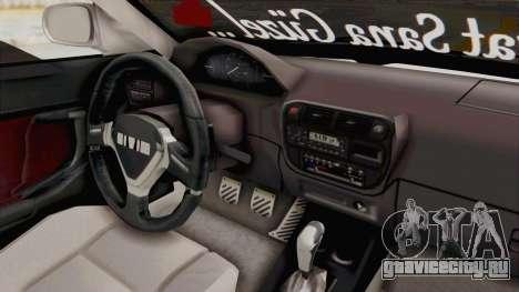 Honda Civic для GTA San Andreas вид изнутри