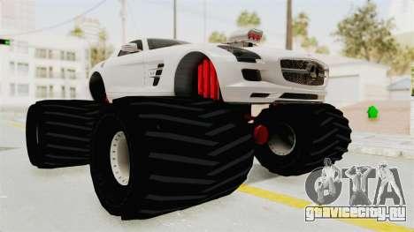 Mercedes-Benz SLS AMG 2010 Monster Truck для GTA San Andreas вид справа