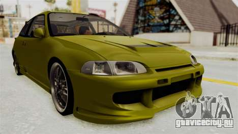 Honda Civic Fast and Furious для GTA San Andreas вид справа