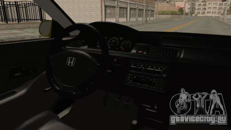 Honda Civic Fast and Furious для GTA San Andreas вид изнутри
