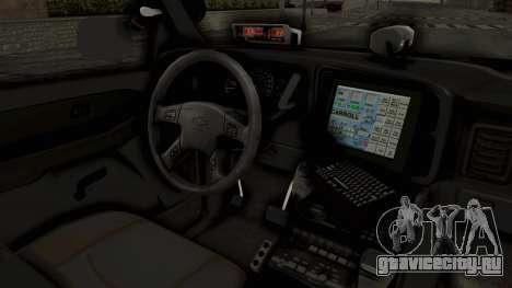 Chevrolet Suburban Indonesian Police RESMOB Unit для GTA San Andreas вид изнутри