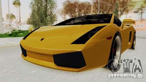 Lamborghini Gallardo 2005 для GTA San Andreas вид сзади слева