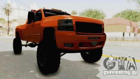 Chevrolet Silverado Long Bed для GTA San Andreas вид справа
