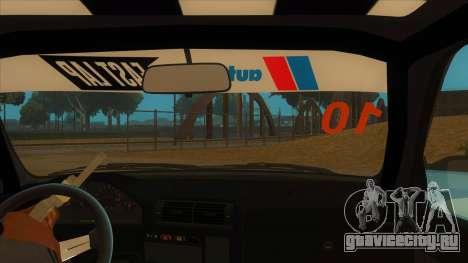 BMW 325i Turbo для GTA San Andreas вид изнутри