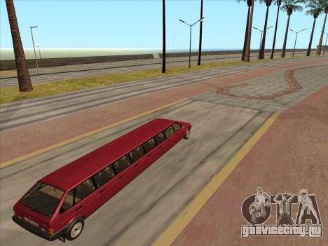 VAZ 2109 17-door для GTA San Andreas вид сзади