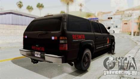 Chevrolet Suburban Indonesian Police RESMOB Unit для GTA San Andreas вид справа