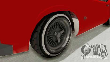 GTA 5 Declasse Sabre GT2 IVF для GTA San Andreas вид сзади