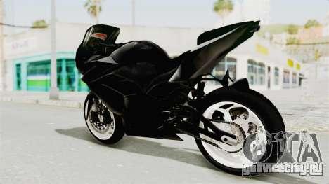 Kawasaki Ninja 250R Black Cobra RnB Anak Jalana для GTA San Andreas вид слева