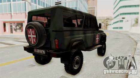 УАЗ-3153 Охотник Сербские Войска для GTA San Andreas вид справа