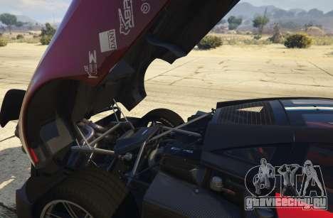 2016 Pagani Huayra BC для GTA 5 вид сзади справа
