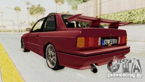 BMW M3 E30 1988 для GTA San Andreas вид сзади слева
