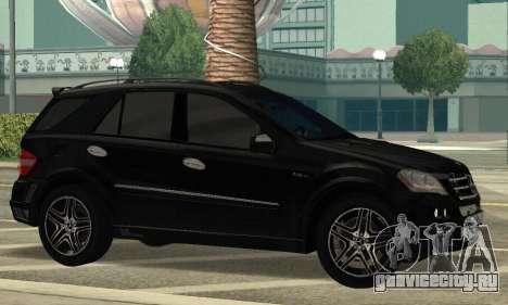Mercedes-Benz ML 63 AMG для GTA San Andreas вид слева