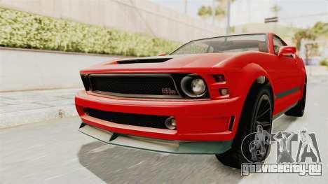 GTA 5 Vapid Dominator v2 SA Lights для GTA San Andreas вид справа