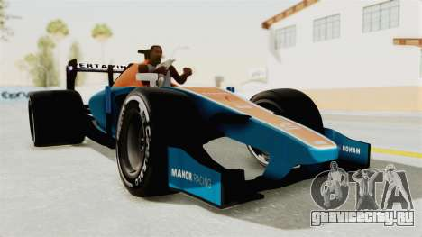 Rio Haryanto 88 F1 Manor Racing для GTA San Andreas вид сзади слева