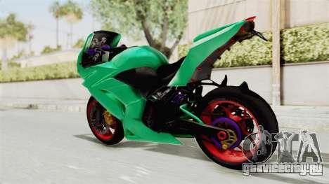 Kawasaki Ninja 250R Race для GTA San Andreas вид слева