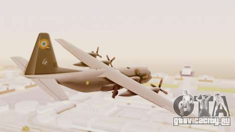 C130 Hercules Indian Air Force для GTA San Andreas вид слева