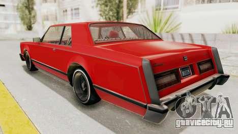GTA 5 Dundreary Virgo Classic Custom v2 для GTA San Andreas вид слева