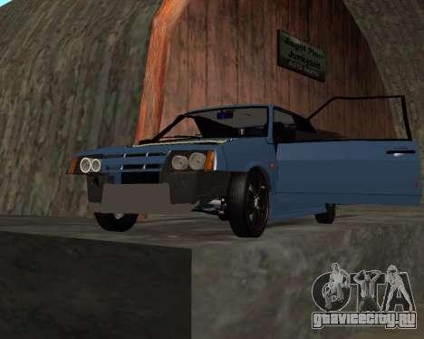 VAZ 2108 для GTA San Andreas вид снизу