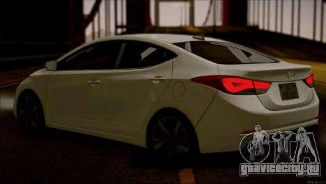 Hyundai ELANTRA 2015 STOCK для GTA San Andreas вид сзади слева