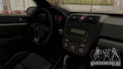 Volkswagen Golf MK5 JDM для GTA San Andreas вид изнутри
