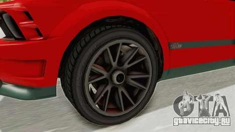 GTA 5 Vapid Dominator v2 SA Lights для GTA San Andreas вид сзади
