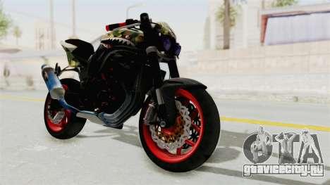 Kawasaki Ninja 250R Naked Camouflage для GTA San Andreas