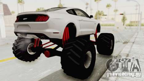Ford Mustang GT 2015 Monster Truck для GTA San Andreas вид слева