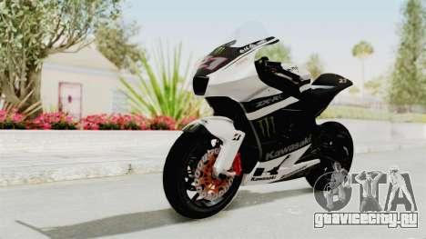 Kawasaki Ninja ZX-RR Streetrace для GTA San Andreas вид сзади слева