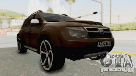 Dacia Duster 2010 Tuning для GTA San Andreas вид справа