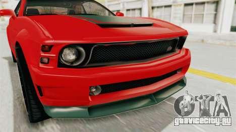 GTA 5 Vapid Dominator v2 SA Lights для GTA San Andreas вид изнутри