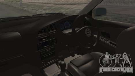 Mitsubishi Lancer Evolution VI Tenryuu Itasha для GTA San Andreas вид изнутри