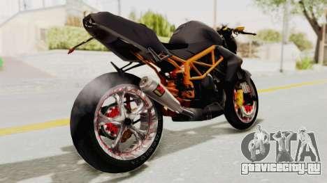 Kawasaki ER 6N Superbike для GTA San Andreas вид сзади слева