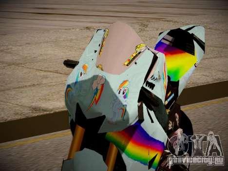 Yamaha YZR M1 2016 Rainbow Dash для GTA San Andreas вид сзади